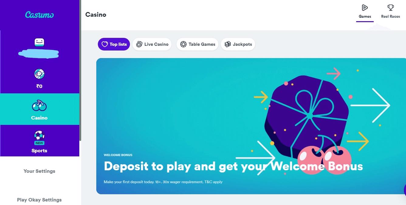 start playing at casino site