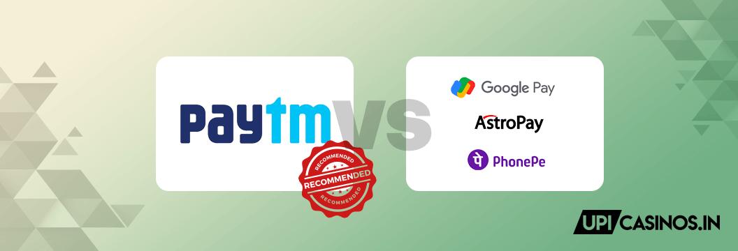 paytm vs other upi apps