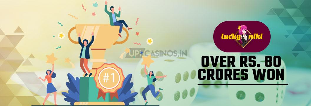 80 crore rupees in winnings at luckyniki